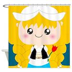 Cute Cartoon Girl from Holland Shower Curtain