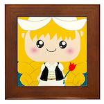 Cute Cartoon Girl from Holland Framed Tile