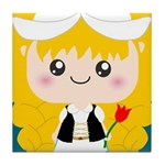 Cute Cartoon Girl from Holland Tile Coaster