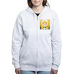 Cute Cartoon Girl from Holland Women's Zip Hoodie