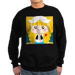 Cute Cartoon Girl from Holland Sweatshirt (dark)