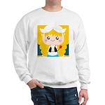 Cute Cartoon Girl from Holland Sweatshirt