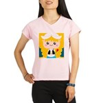 Cute Cartoon Girl from Holland Performance Dry T-S