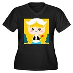 Cute Cartoon Girl from Holland Women's Plus Size V