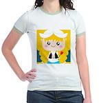 Cute Cartoon Girl from Holland Jr. Ringer T-Shirt