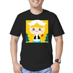 Cute Cartoon Girl from Holland Men's Fitted T-Shir