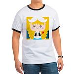 Cute Cartoon Girl from Holland Ringer T