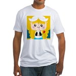 Cute Cartoon Girl from Holland Fitted T-Shirt