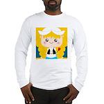 Cute Cartoon Girl from Holland Long Sleeve T-Shirt