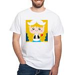 Cute Cartoon Girl from Holland White T-Shirt
