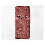 Cute Chocolate Cookie King Duvet