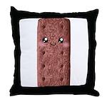 Cute Chocolate Cookie Throw Pillow