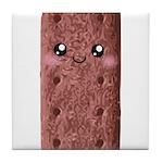 Cute Chocolate Cookie Tile Coaster