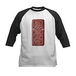 Cute Chocolate Cookie Kids Baseball Jersey