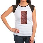 Cute Chocolate Cookie Women's Cap Sleeve T-Shirt