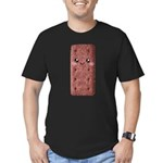 Cute Chocolate Cookie Men's Fitted T-Shirt (dark)