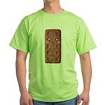 Cute Chocolate Cookie Green T-Shirt