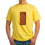 Cute Chocolate Cookie Yellow T-Shirt