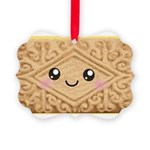 Cute Vanilla Cream Cookie Picture Ornament