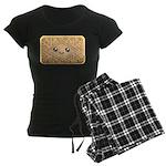 Cute Vanilla Cream Cookie Women's Dark Pajamas