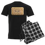Cute Vanilla Cream Cookie Men's Dark Pajamas