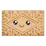 Cute Vanilla Cream Cookie Sticker (Rectangle 50 pk