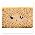 Cute Vanilla Cream Cookie Square Car Magnet 3