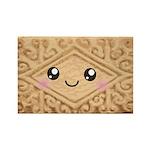 Cute Vanilla Cream Cookie Rectangle Magnet (100 pa