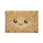 Cute Vanilla Cream Cookie Rectangle Magnet (10 pac