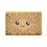 Cute Vanilla Cream Cookie Rectangle Magnet