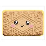 Cute Vanilla Cream Cookie Small Poster