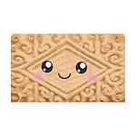 Cute Vanilla Cream Cookie 35x21 Wall Decal