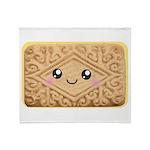 Cute Vanilla Cream Cookie Throw Blanket
