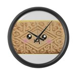 Cute Vanilla Cream Cookie Large Wall Clock