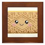 Cute Vanilla Cream Cookie Framed Tile