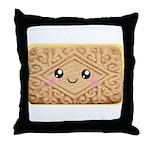Cute Vanilla Cream Cookie Throw Pillow