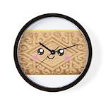 Cute Vanilla Cream Cookie Wall Clock