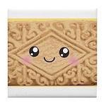 Cute Vanilla Cream Cookie Tile Coaster