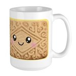 Cute Vanilla Cream Cookie Large Mug