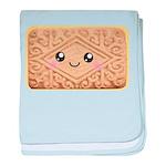 Cute Vanilla Cream Cookie baby blanket