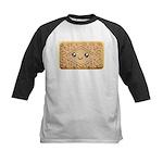 Cute Vanilla Cream Cookie Kids Baseball Jersey