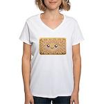 Cute Vanilla Cream Cookie Women's V-Neck T-Shirt