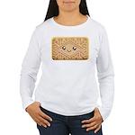 Cute Vanilla Cream Cookie Women's Long Sleeve T-Sh