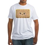 Cute Vanilla Cream Cookie Fitted T-Shirt