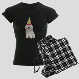 Bichon Frise Birthday Women's Dark Pajamas