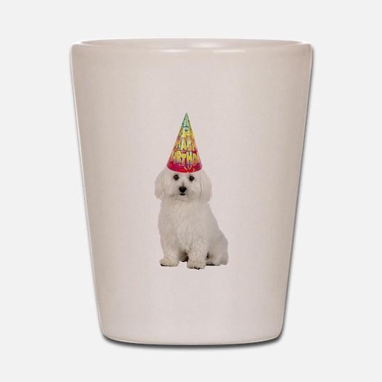 Bichon Frise Birthday Shot Glass