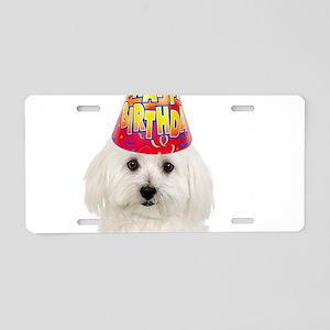 Bichon Frise Birthday Aluminum License Plate