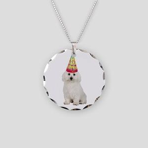 Bichon Frise Birthday Necklace Circle Charm
