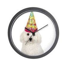 Bichon Frise Birthday Wall Clock