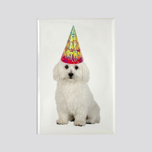 Bichon Frise Birthday Rectangle Magnet